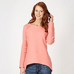 Weird Fish - Pink knitted crew neck top