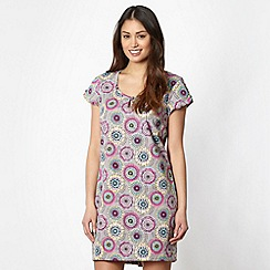 Weird Fish - Grey circle flower tunic dress