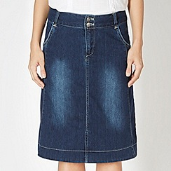 Weird Fish - Navy denim skirt