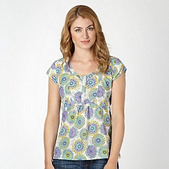 Weird Fish - Off white woven dandelion print top