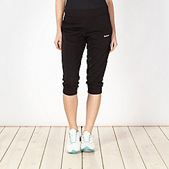 Reebok - Black cuffed capri pants