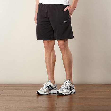 Reebok - Black sports jersey shorts