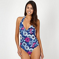 Animal - Navy floral printed swimsuit