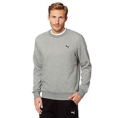 Puma - Grey crew neck sweat top