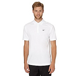 Nike - White 'Victory' golf polo shirt