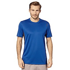 Reebok - Blue technical performance t-shirt