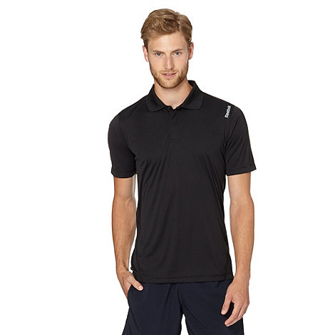 Reebok - Black slim fit performance polo shirt