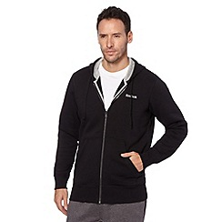 Reebok - Black zip through fleece lined hoodie