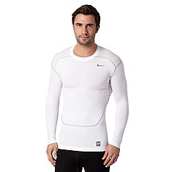 Nike - White compression base layer gym top