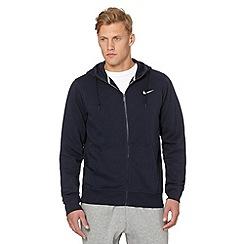Nike - Navy 'Club' zip through hoodie