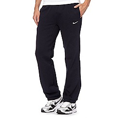 Nike - Navy 'Club' cuffed jogging bottoms