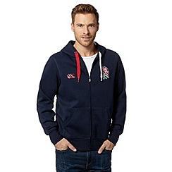 Canterbury - Navy England logo zip through hoodie