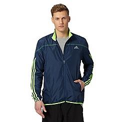 adidas - Dark blue 'Response' running jacket