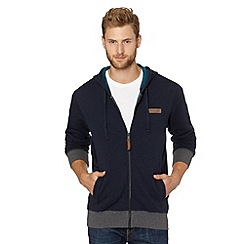 Reebok - Navy zip through fleece lined hoodie