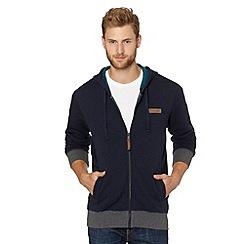 Reebok - Navy zip through fleece lined hoodie
