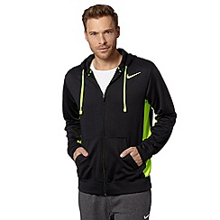 Nike - Black 'Therma-FIT' neon insert hoodie