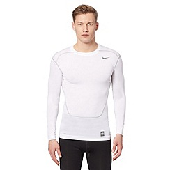Nike - White 'Dri-FIT' compression top