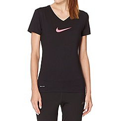 Nike - Black slim logo t-shirt