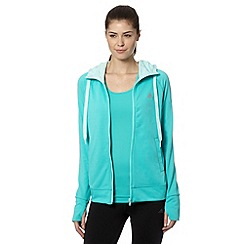 adidas - Pale green zip through hoodie