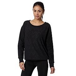 adidas - Black textured 'ClimaLite' sweatshirt