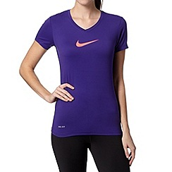 Nike - Purple branded slim fit gym t-shirt