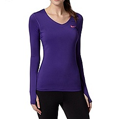 Nike - Purple 'Dri-FIT' long sleeved top
