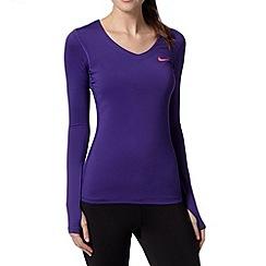 Nike - Purple 'Dri-FIT' long sleeved top