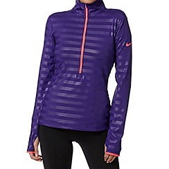 Nike - Purple striped half zip top