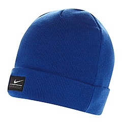 Nike - Bright blue roll brim knitted beanie