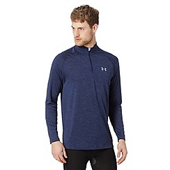 Under Armour - Navy loose zip sport top
