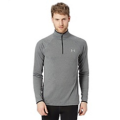 Under Armour - Black fitted flyweight zip long sleeved top