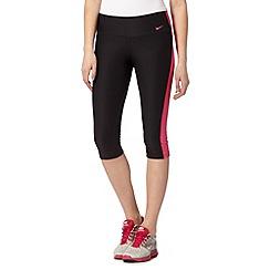 Nike - Black side panel capri pants