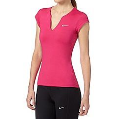 Nike - Dark pink 'Pure' gym t-shirt