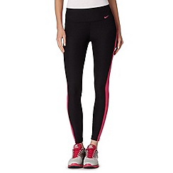 Nike - Black 'Dri-FIT' striped gym leggings