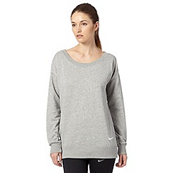 Nike - Grey boyfriend crew neck sweat top
