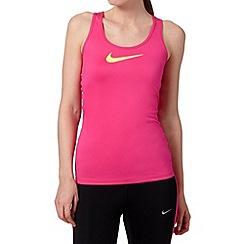 Nike - Pink pro 'Dri-FIT' tank top