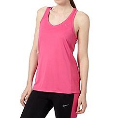 Nike - Pink racer 'Dri-FIT' vest