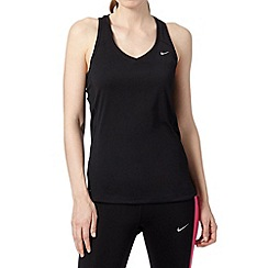 Nike - Black racer 'Dri-FIT' vest