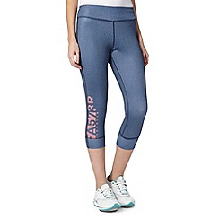 Reebok - Navy denim look capri pants