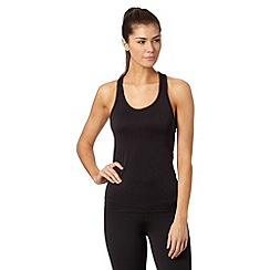 Reebok - Black racer back tank top