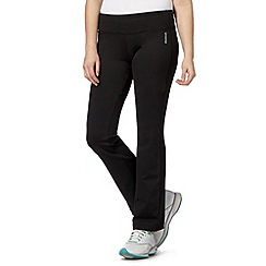 Reebok - Black fitted bootcut gym trousers