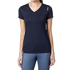 Reebok - Navy sport 'PlayDry' t-shirt