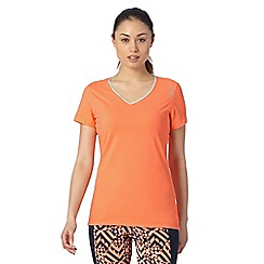 Reebok - Light orange V neck technical gym t-shirt