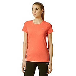 adidas - Orange aero knit gym t-shirt
