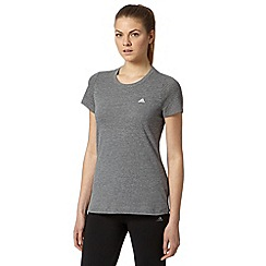 adidas - Dark grey aero knit gym t-shirt