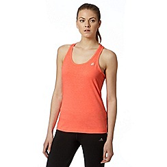 adidas - Orange aero knit sleeveless gym top