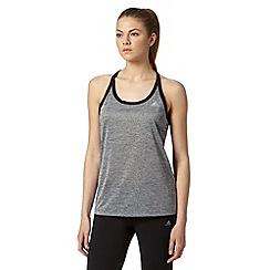 adidas - Grey contrast trim racer back vest