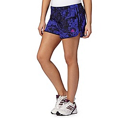 adidas - Dark purple graphic print running shorts