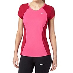 Nike - Pink 'Racer' two tone running t-shirt