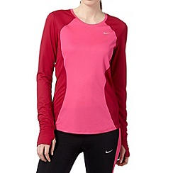 Nike - Pink racer long sleeved 'Dri-FIT' top